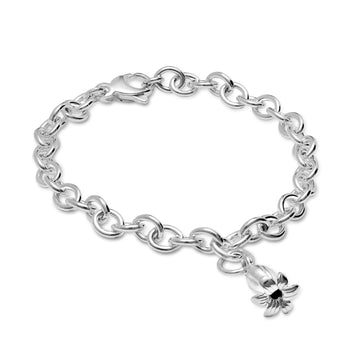 Bluebell Silver Charm Bracelet As seen at the Chelsea Flower Show by Scarlett Jewellery