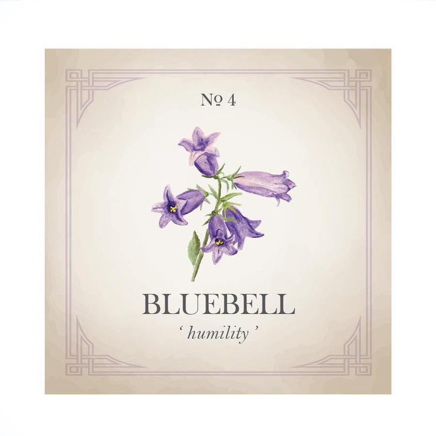 Bluebell Flower Gold Charm