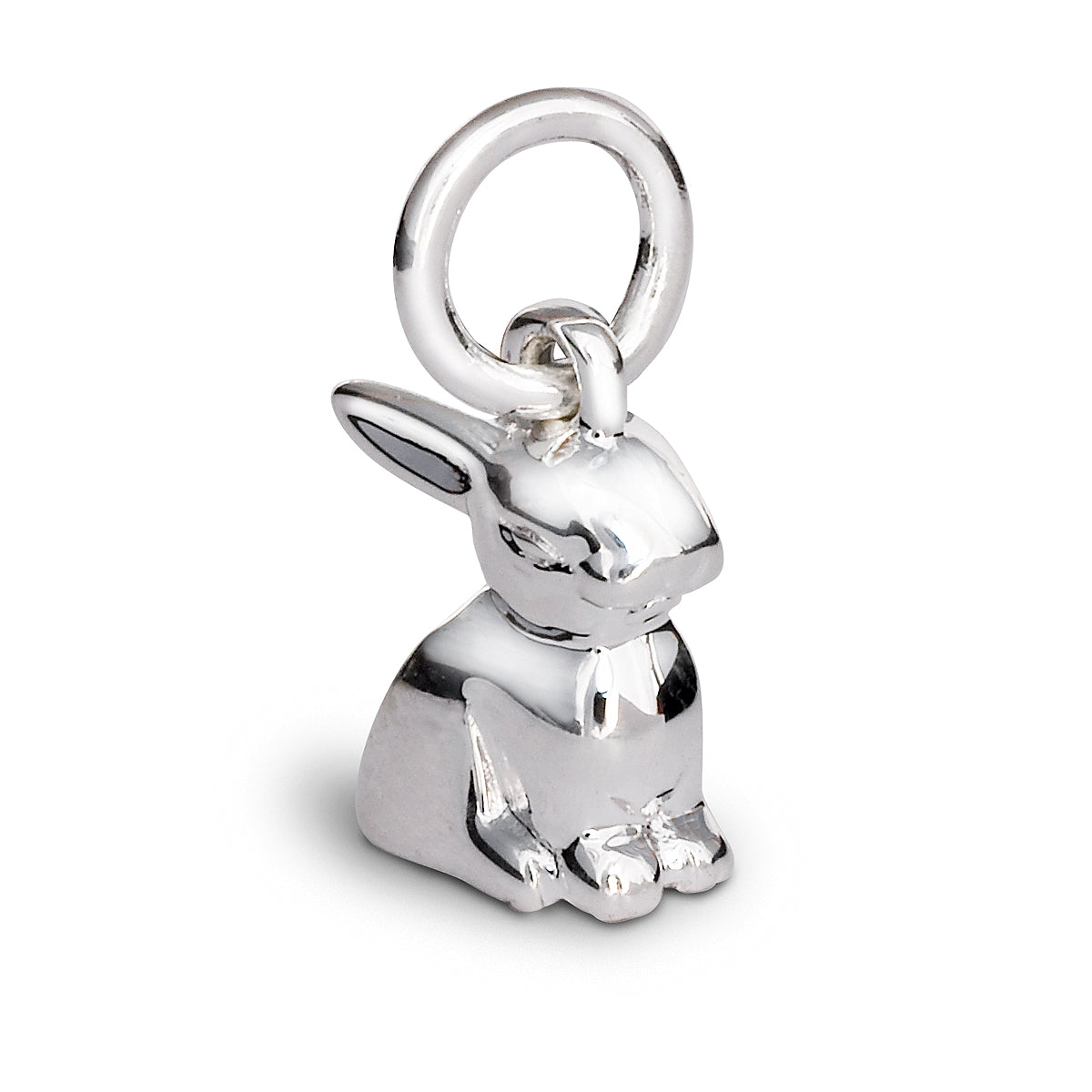 Sterling silver bunny rabbit charm fits all charm bracelets FREE UK DELIVERY