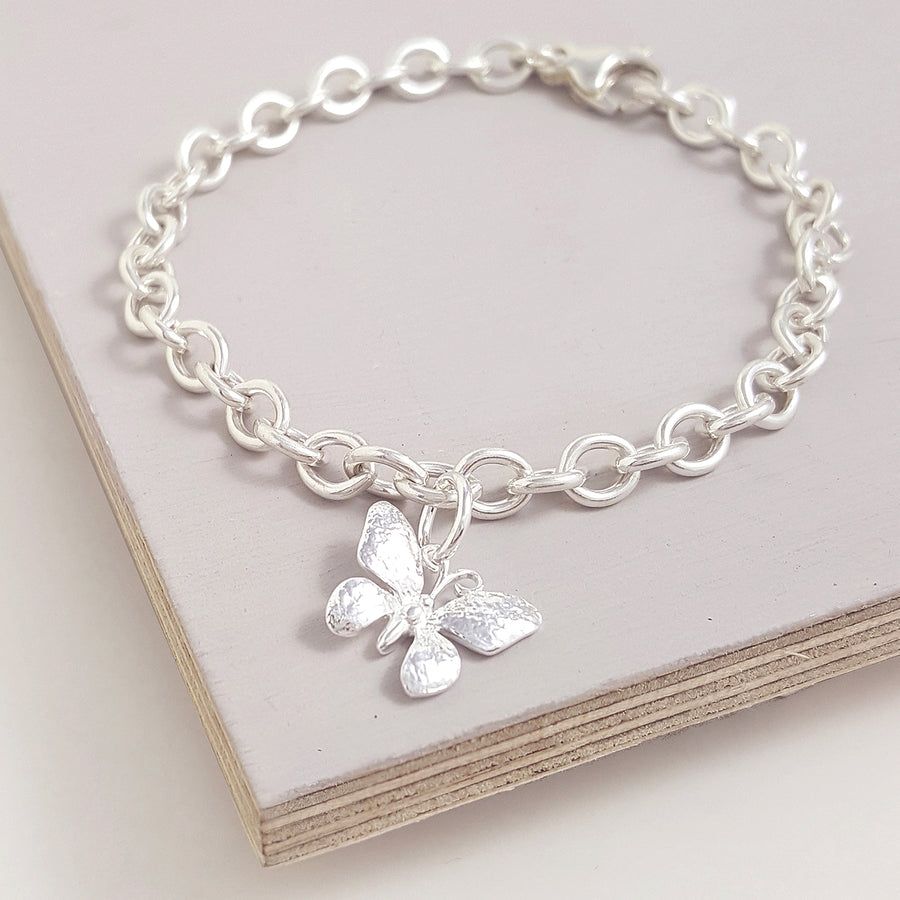 Butterfly Silver Charm
