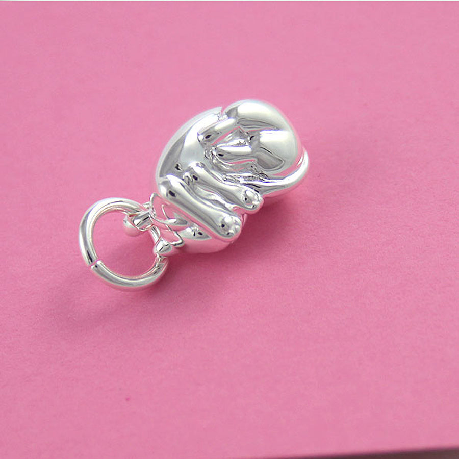 Cat Sterling Silver Charm for bracelet or necklace from Scarlett Jewellery