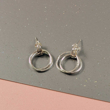 Unity Link Silver Earrings