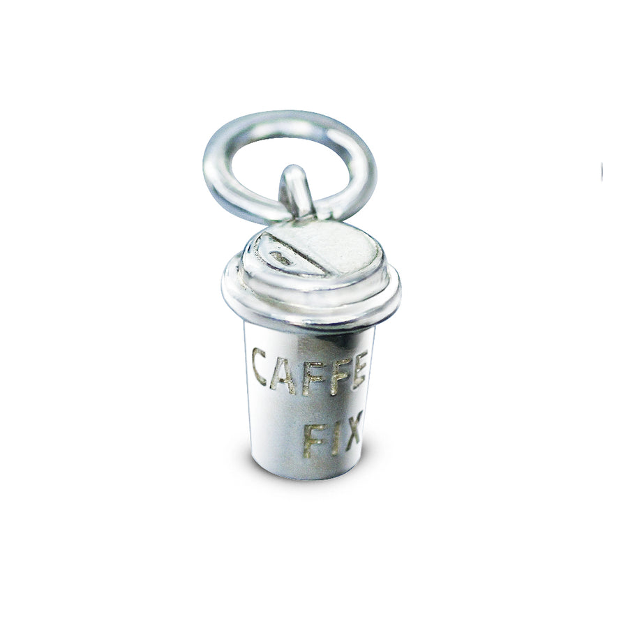 Coffee Cup Silver Charm For bracelets Scarlett Jewellery