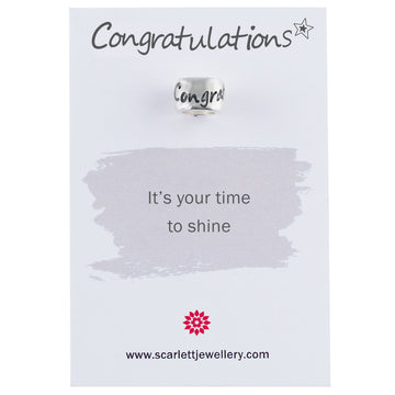 Congratulations silver mojo charm graduation gift passing driving test charm