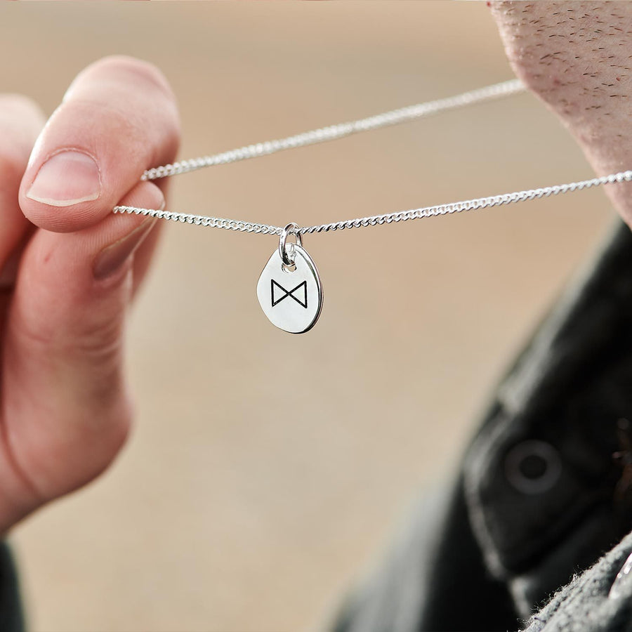 Berkano New Beginnings Rune Mens & Womens travel necklace from Off The Map Brighton