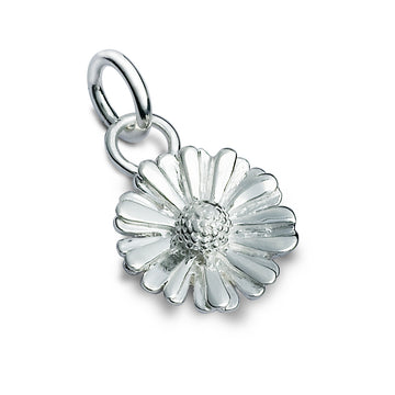 Silver Daisy Charm For Bracelet or Necklace