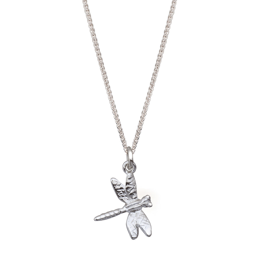 Dragonfly Silver Necklace Pendant Solid Silver