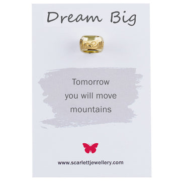 Dream big gold mojo charm bead