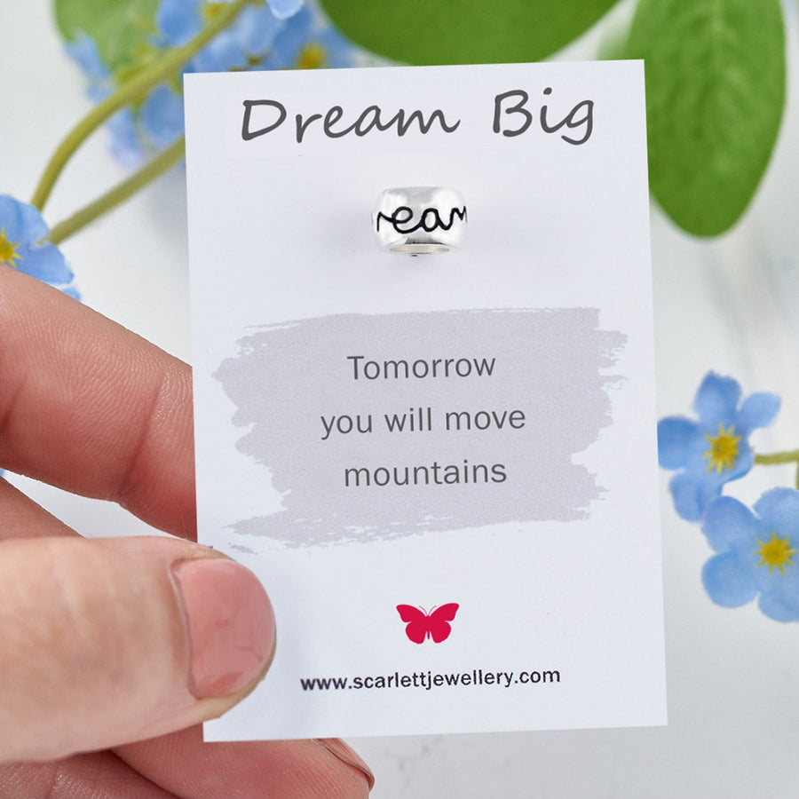 Dream Big Positive Quote Jewellery Scarlett Graduation Gift