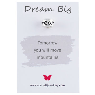 Dream Big Positive Quote Jewellery Scarlett