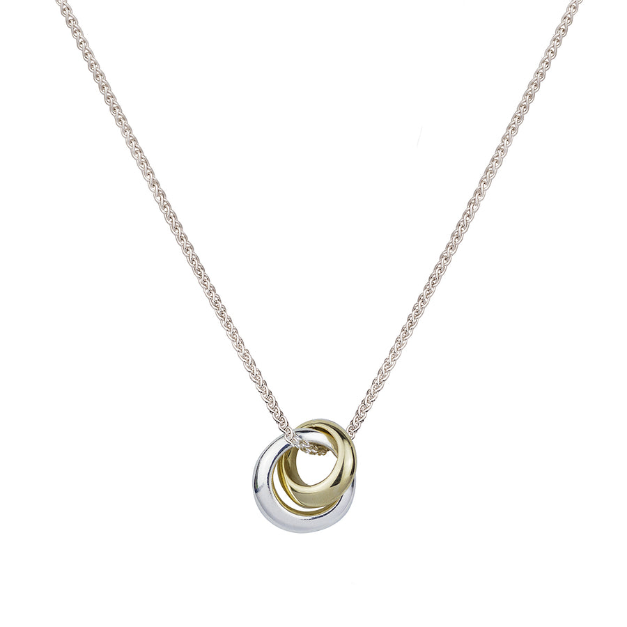 Silver and gold Eclipse Loops Circles Russian Style Necklace Scarlett Jewellery