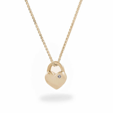 solid gold heart necklace with diamond scarlett jewellery UK christmas gift for her