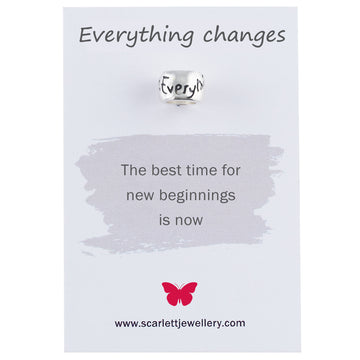 Everything Changes Silver Mojo Charm Bead