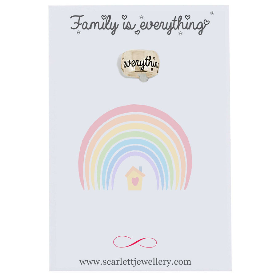 family is everything solid gold mojo charm bead