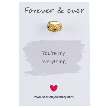 Forever and ever solid gold charm bead Scarlett Jewellery