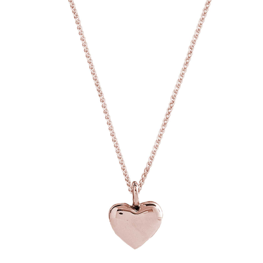 solid rose gold heart pendant necklace for women christmas gift for her Scarlett Jewellery