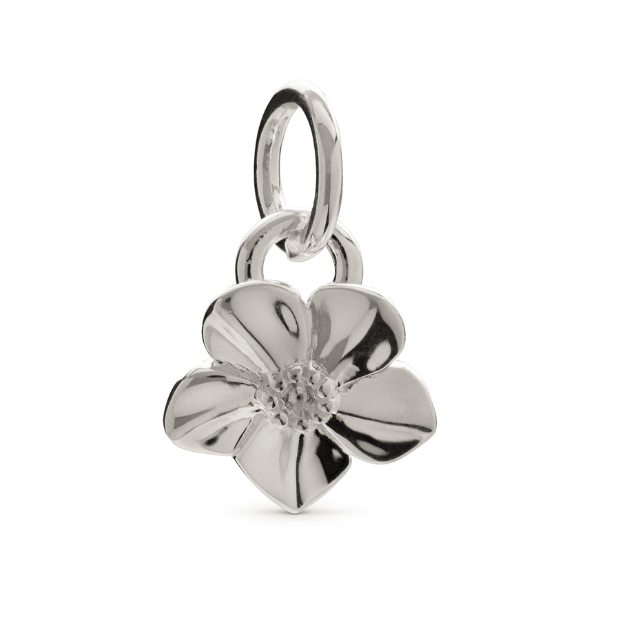 Forget-Me-Not Flower Silver Charm Scarlett Jewellery