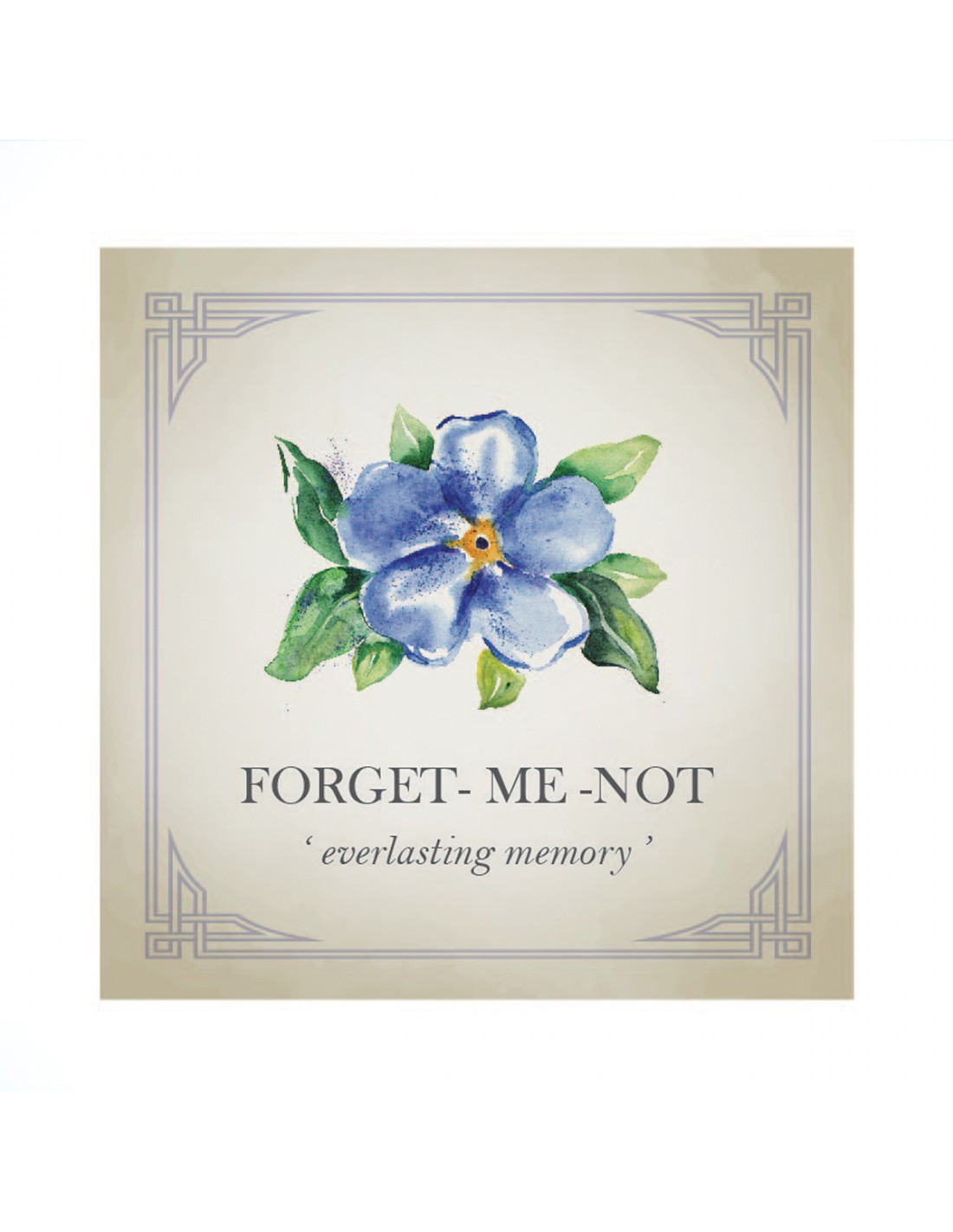Forget-Me-Not Flower Personalised Silver Charm
