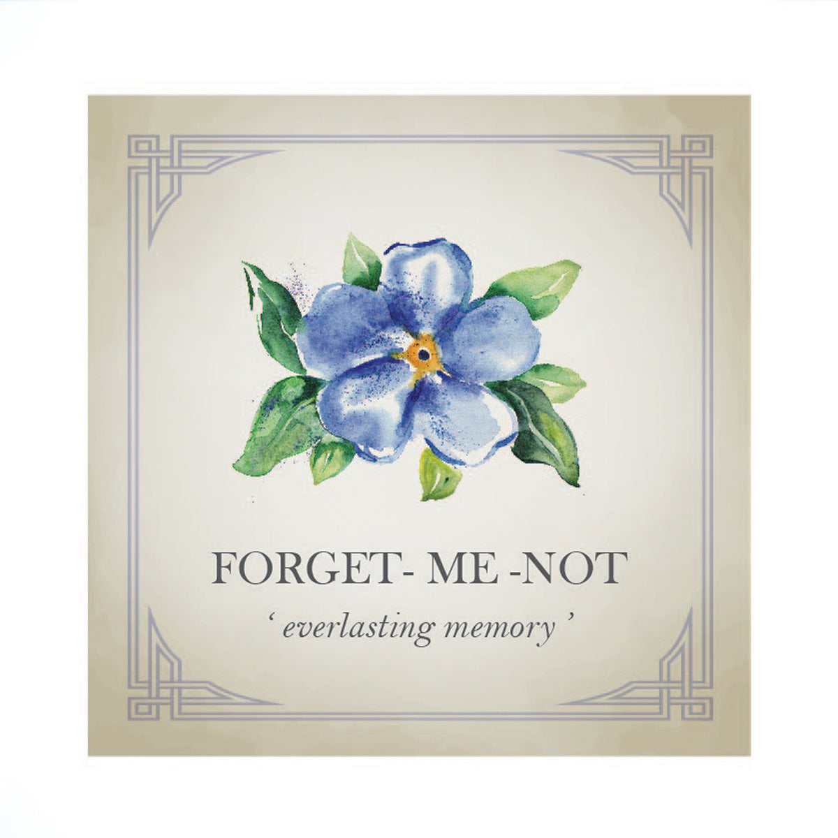 Tiny Forget-Me-Not Gold Charm
