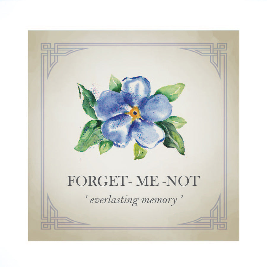 Tiny Forget-Me-Not Silver Charm