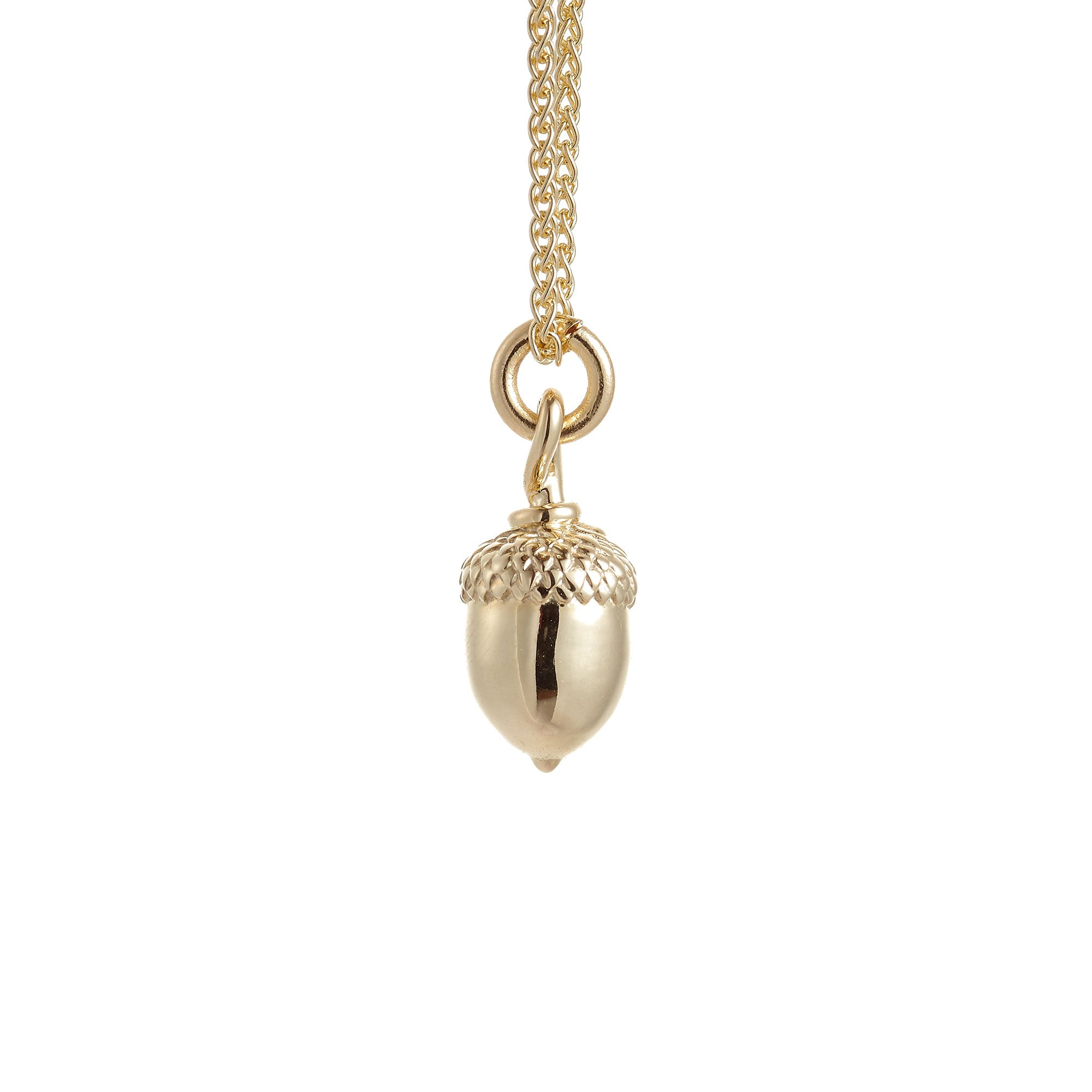 Acorn Solid Gold Necklace