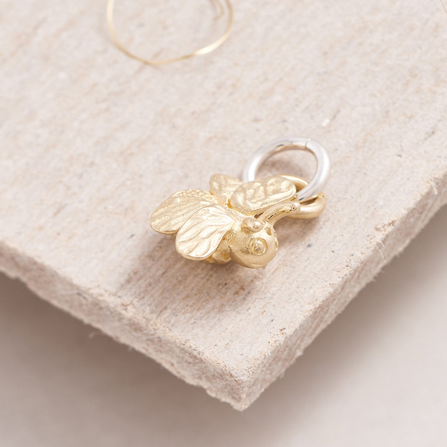 Bumble Bee Solid Gold Bracelet Charm Scarlett Jewellery