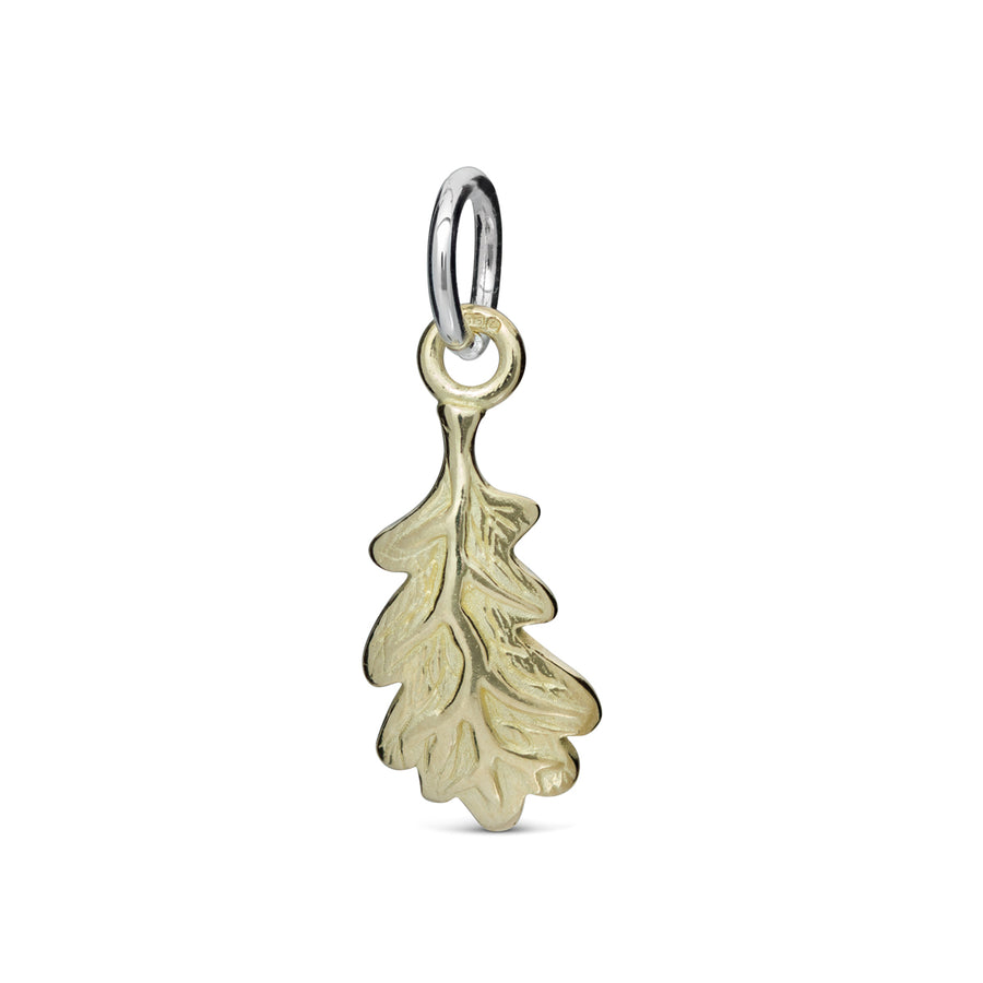 Solid gold acorn oak leaf charm Scarlett Jewellery