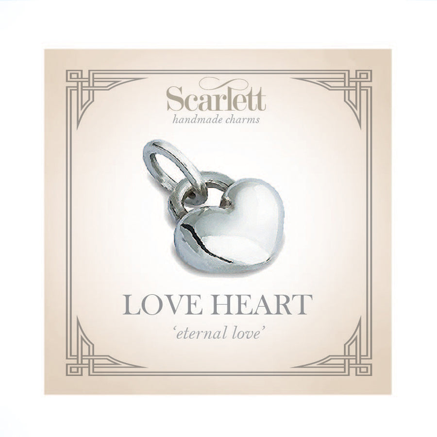 Solid gold love heart bracelet charm Scarlett Jewellery