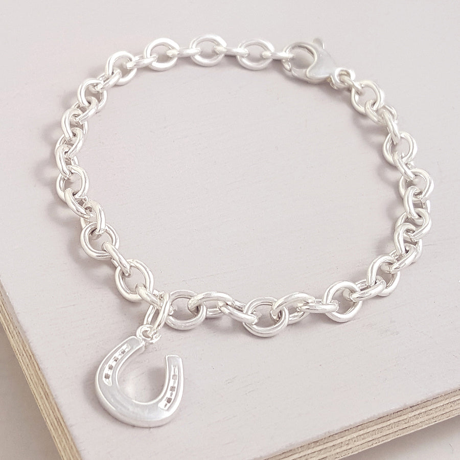 A good luck charm in solid sterling silver - fits all charm bracelets and makes a delicate lucky necklace.