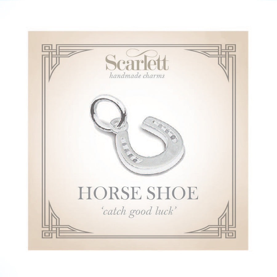 Horse Shoe Silver Charm Bracelet Good Luck Charms Scarlett Jewellery