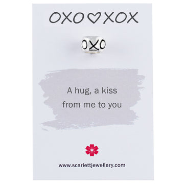 OXO XOX Hugs And Kisses Best Friend Charm Scarlett Jewellery