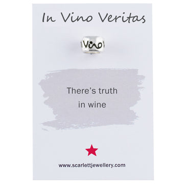 In Vino Veritas Truth In Wine Quote Jewellery