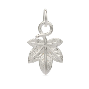 Ivy leaf silver plant nature charm from Scarlett Jewellery symbol of fidelity for marriage