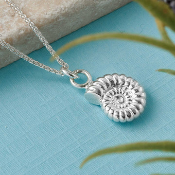 Ammonite Large Silver Necklace