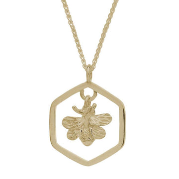 Honey-Bee Solid Gold Necklace