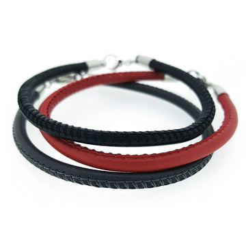 Italian Leather Coloured Bracelet