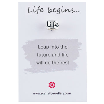 Life Begins 40th birthday mojo charm bead Scarlett Jewellery
