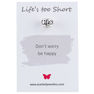 Life's Too Short Gift For Overcoming Adversity Scarlett Jewellery