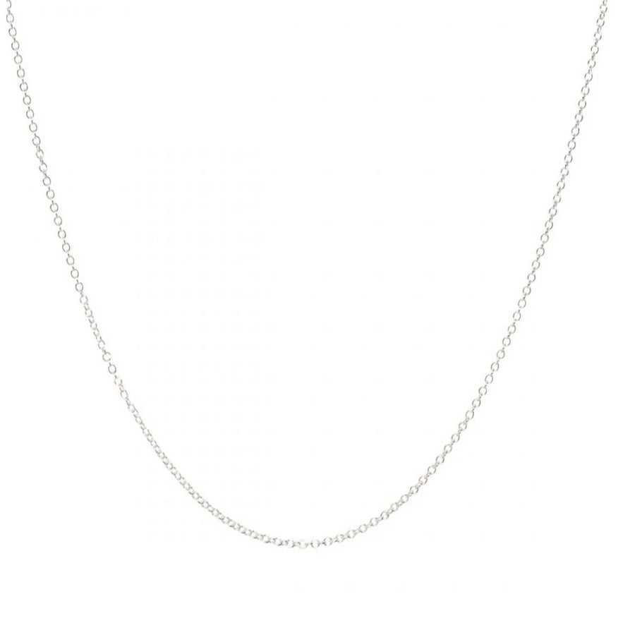 Sterling Silver Open Trace Chain Necklace - Light Weight