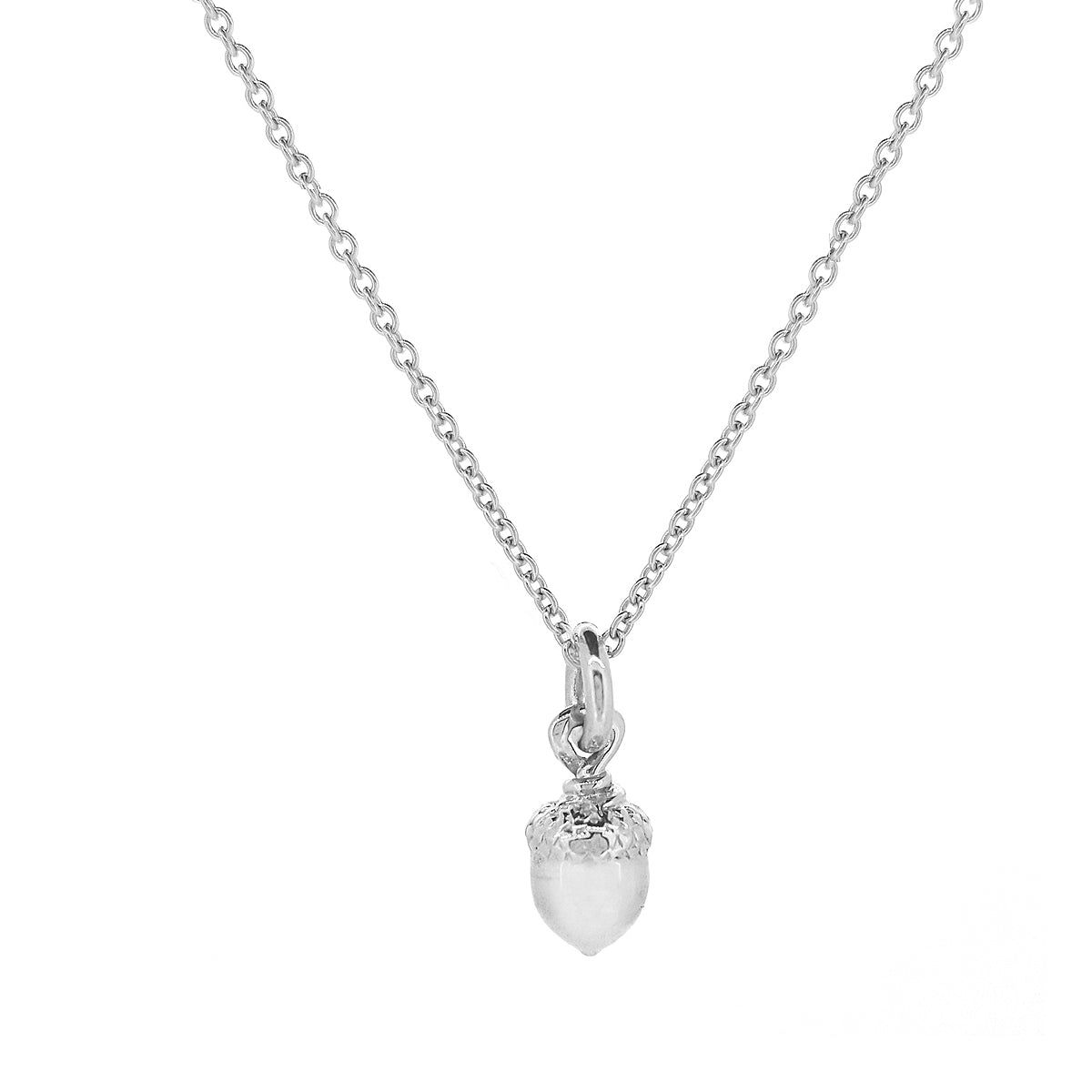Little Acorn Solid Silver Tiny Necklace Designer Scarlett Jewellery