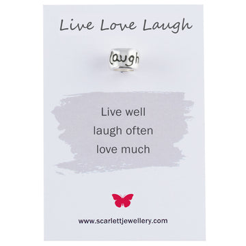 Live Love Laugh engraved charm fits pandora gift for mum