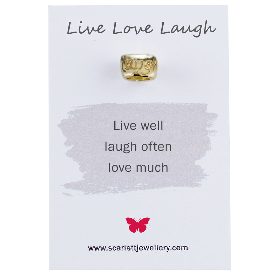 Live Love Laugh Gold Mojo Charm Bead