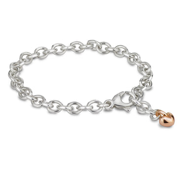 Mini Lifetime fully adjustable solid silver charm bracelet for collecting charms Scarlett Jewellery