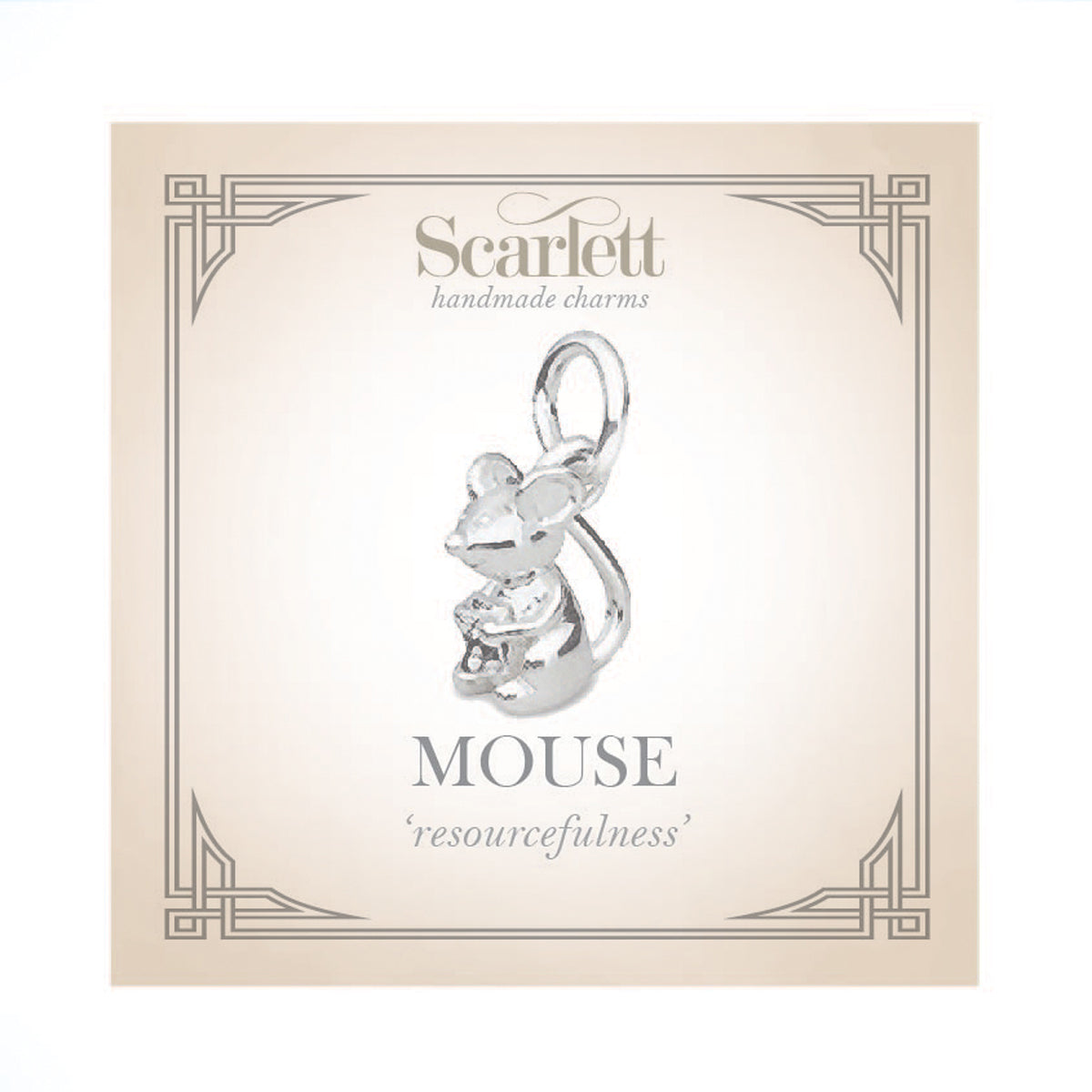 Mouse Silver Charm by Scarlett Jewellery
