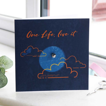One life live it going away gift card with recycled silver charm fits pandora