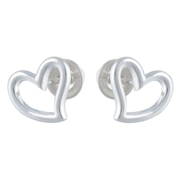 Open Heart Silver Stud Earrings Scarlett Jewellery