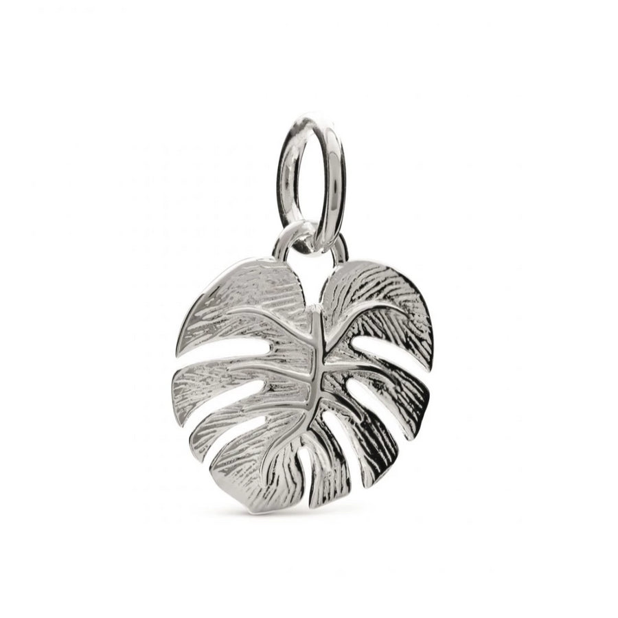 Monstera Palm Leaf Sterling Silver Charm