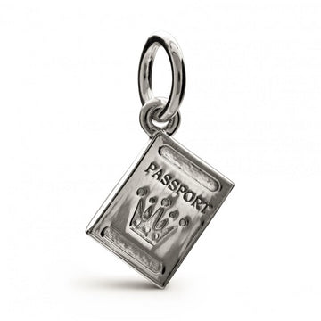 Passport Personalised Silver Charm