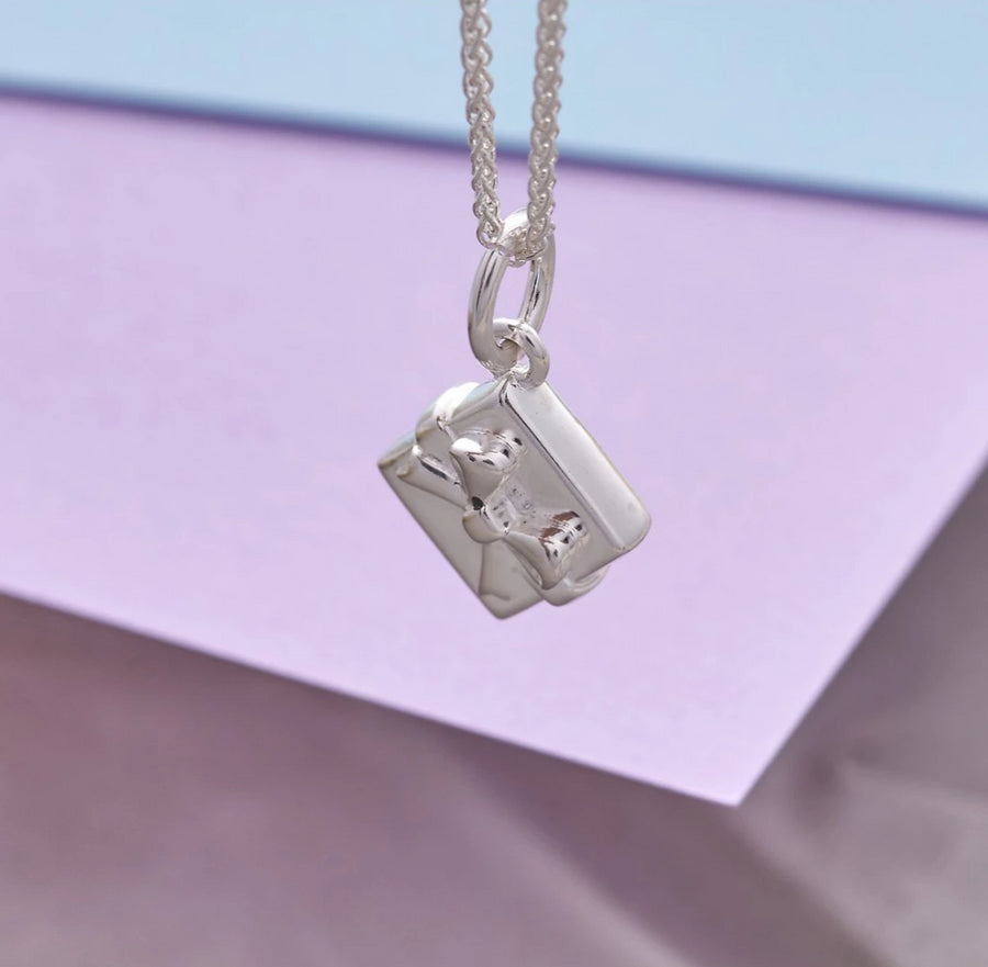 Personalised Silver Present with bow charm
