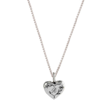 heart initial engraved necklace floral flower border RHS Chelsea Flower Show
